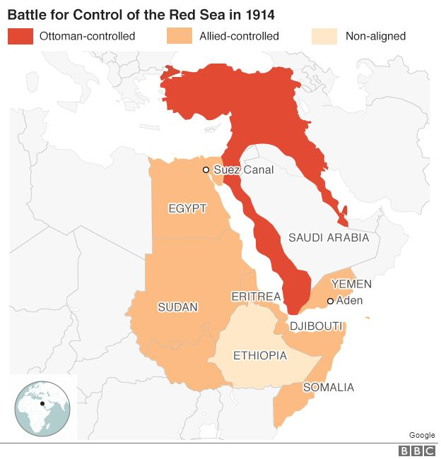 How ethiopian prince scuppered germanys ww1 plans bbc news map gumiabroncs Choice Image