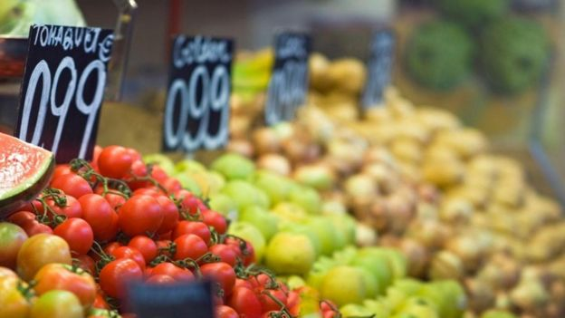 Puesto de venta de verduras