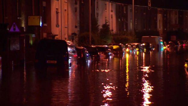 Flooding in Galgate