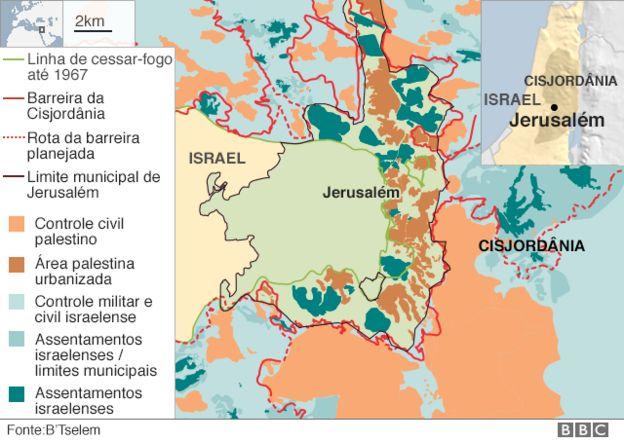 Mapa que mostra dimensão da crise na região