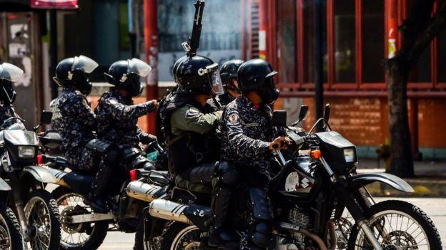 Fuerzas de seguridad en Venezuela.