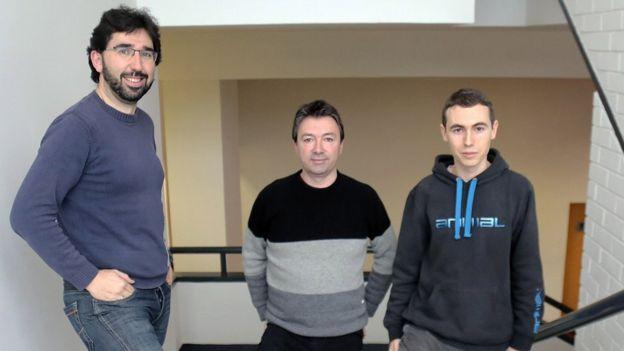 De izquierda a derecha, Gorka Labaka, Eneko Aguirre y Mikel Artetxe. (Foto: UPV/EHU).