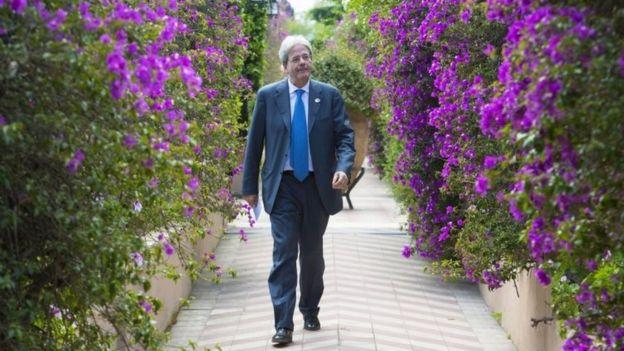 Konferansa ev sahipliği yapan İtalya Başbakanı Gentiloni