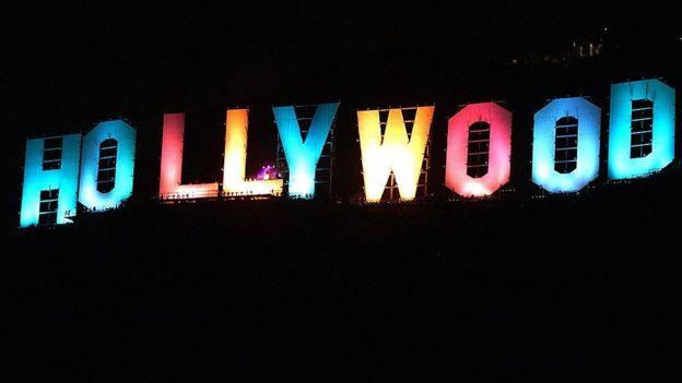 Letras de Hollywood de colores