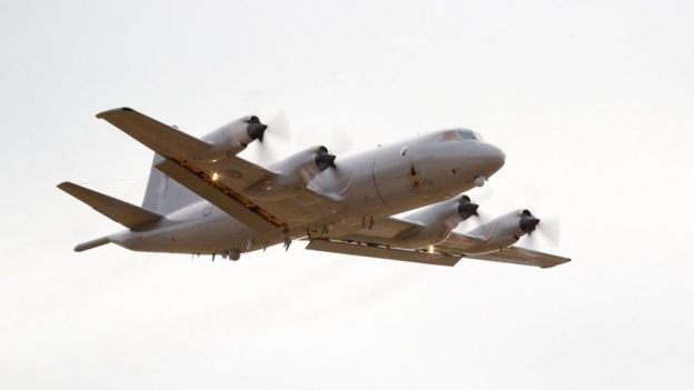 Image shows a New Zealand Airforce P3 Orion