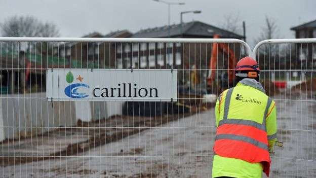 A Carillion sign at a building site in the West Midlands