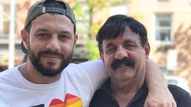 Mathew Shurka e seu pai