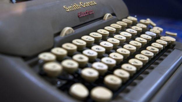 Máquina de escribir en la que García Márquez escribió algunas de sus novelas.