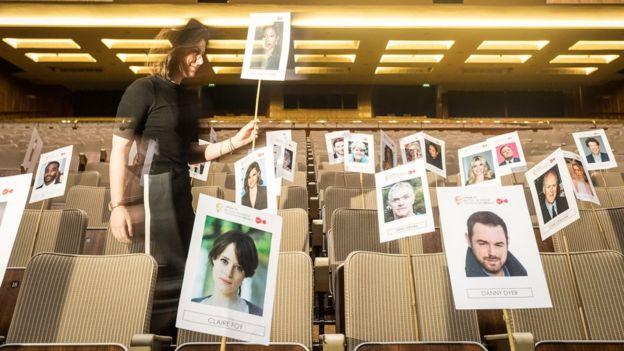 Bafta TV awards seating plan