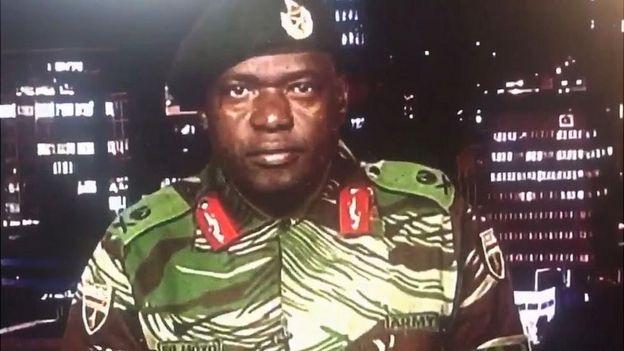 Maj Gen Sibusiso Moyo speaking on ZBC, 15 November 2017
