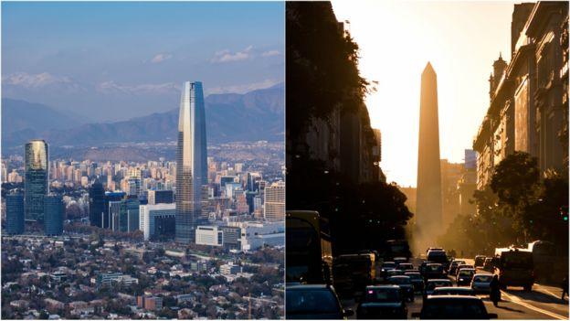 Santiago de Chile y Buenos Aires