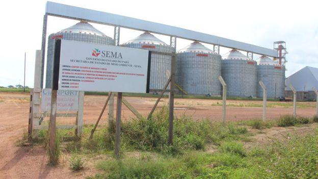A estação de cargas da Cianport em Miritituba