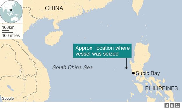 China To Return Seized US Underwater Drone Pentagon Says BBC News - Us china map
