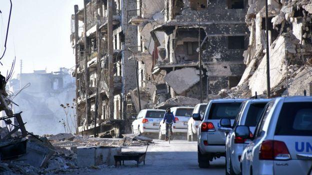 Население осажденного Алеппо