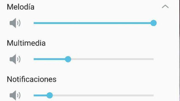 volumen multimedia teléfono Android