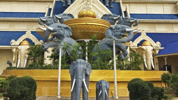 The Chinese casino resort in Laos