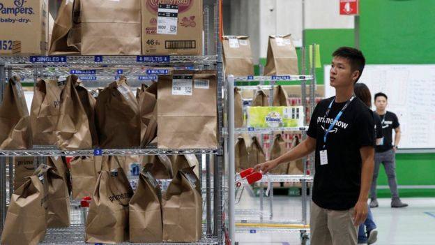 Amazon's new fulfilment centre in Singapore