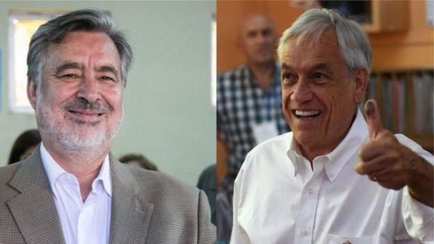 Alejandro Guillier y Sebastián Piñera