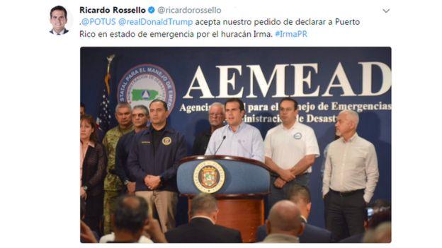 Twitter de Ricardo Roselló