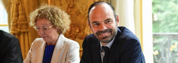 Labour Minister Muriel Pénicaud and Prime Minister Edouard Philippe