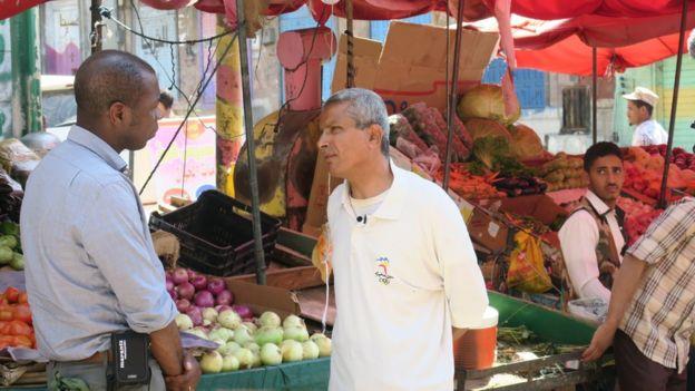 Clive Myrie (left) and Sami Abdul Hadi