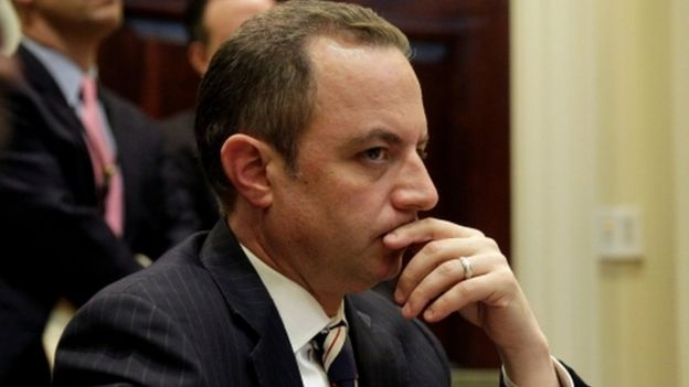 White House Chief of Staff Reince Priebus pictured at the White House on 6 June, 2017.