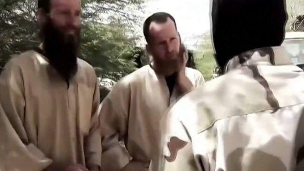 Imagem de McGown em vídeo da Al-Qaeda