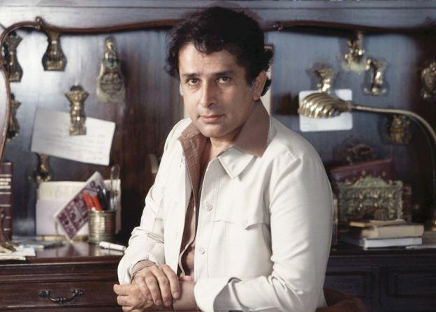 Shashi Kapoor in his study