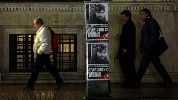 Carteles de Maldonado en Buenos Aires