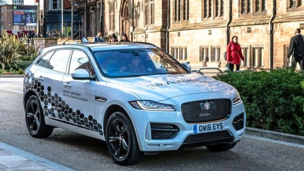 One of Jaguar Land Rover's pilot vehicles