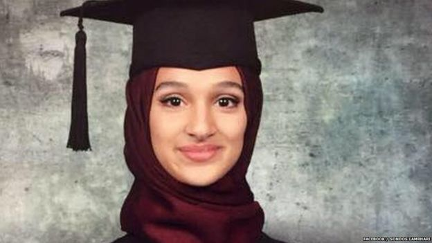 Sondos Lamrhari's high-school graduation photo