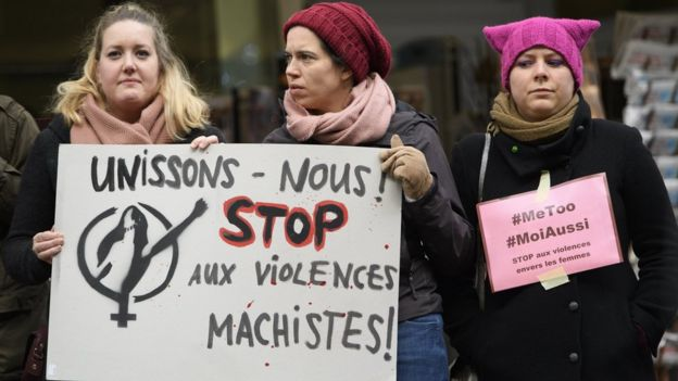 Marcha de la campaña #yotambién en Francia en noviembre de 2017