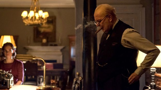 Gary Oldman as Churchill