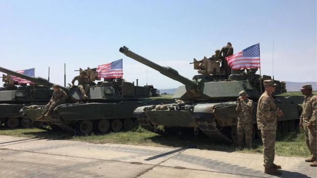 ДоГрузії прибула партія військової техніки США