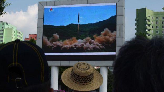 Lançamento de míssil televisionado