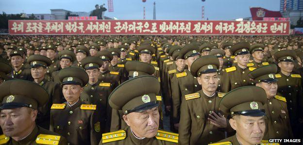 Militares norcoreanos.