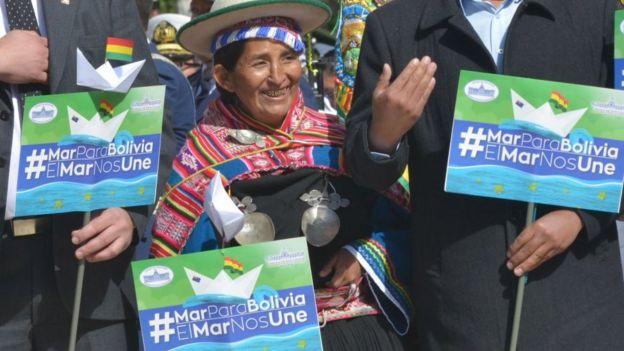 Protesta boliviana por acceso al mar.