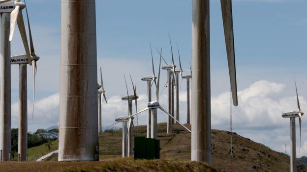 Molinos para generar energía eólica