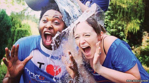 Image result for couple ice bucket challenge