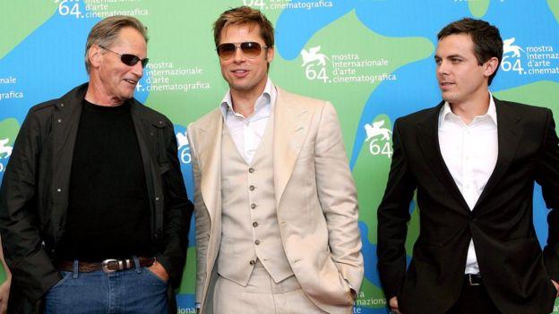 Sam Shepard, Brad Pitt and Casey Affleck