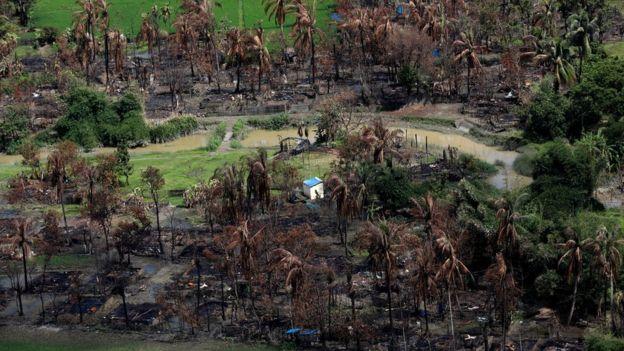 برخی از روستاهای روهینگیانشین در شمال ایالت راخین سوزانده و با خاک یکسان شده است