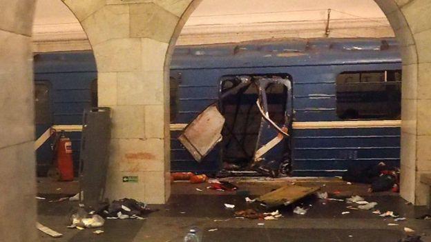 Explosão em São Petersburgo