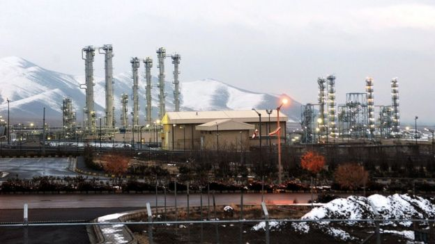 The nuclear heavy water installation in Arak, 2011