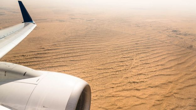Arabian desert from the air