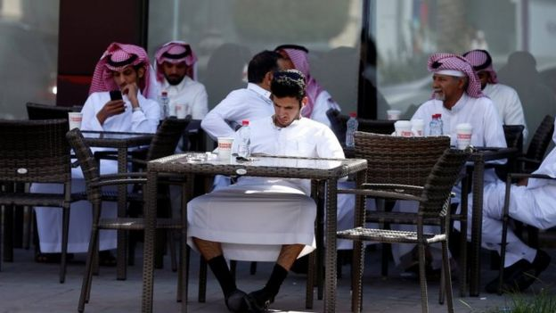 People at a cafe in Riyadh (file photo)