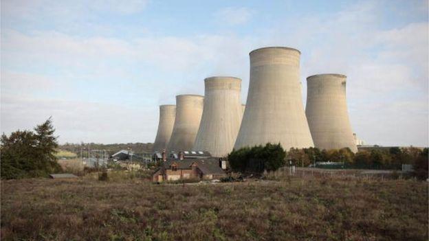 Central de energía a base de carbón, Ratcliffe-on-Soar, en Reino Unido.