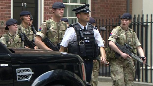 Troops in Downing Street