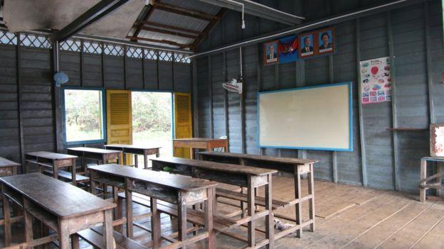 Bên trong một lớp học của trường