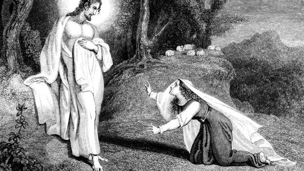 Ilustração de 1836 mostra aparição de Jesus a Maria Madalena