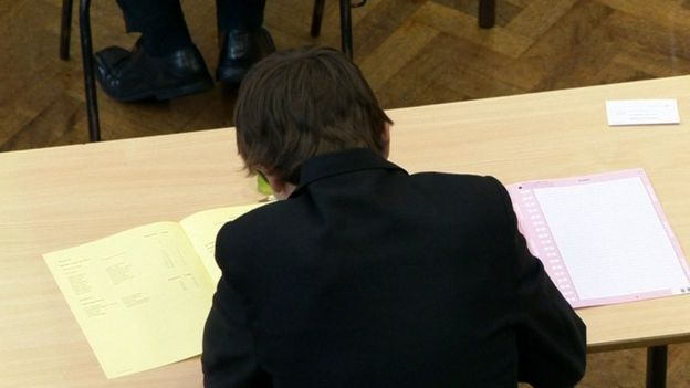 The report said it was unacceptable that boys continue to under-perform in exams, when compared to girls
